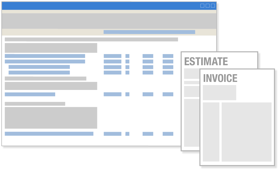 The National Estimator Software Estimates to Invoices in QuickBooks